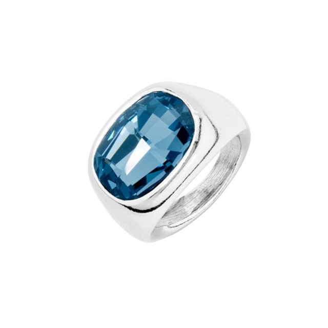 Bague Géométrique Cristal Bleu | UNOde50