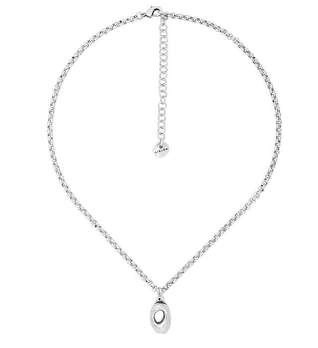 Feine Halskette mit ovalem Anhänger Dian