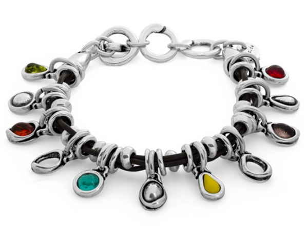 Multicolor Leather Charm Bracelet