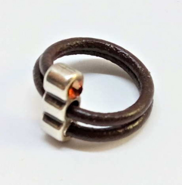 Double Leather Ring Brown