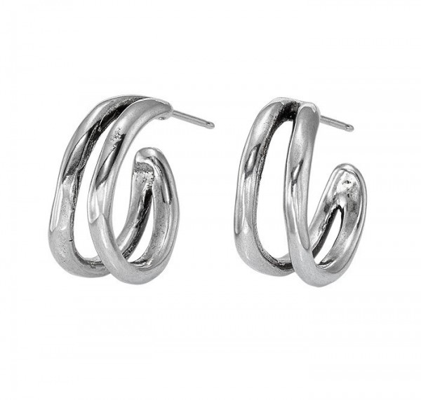 Double Creole Hoops Earrings